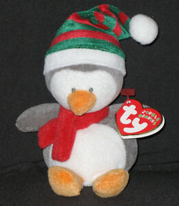 TY ICICLES the PENGUIN JINGLE BEANIE BABY - MINT with MINT TAGS