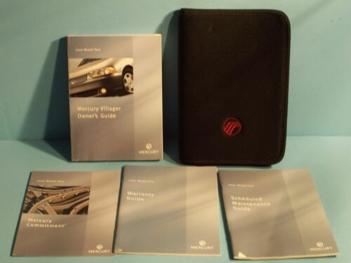 02 2002 Mercury Villager owners manual