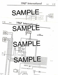 1972 international harvester scout ii 72 wiring guide chart diagram rh ebay com 1977 International Scout II Wiring Diagrams IH Scout 800 Wiring Diagrams