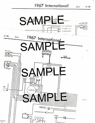 1968 Jeep Late Cj 5 Cj 6 Dj 5 Dj 6 4 Cyl 68 Wiring Guide Chart Diagram Ebay