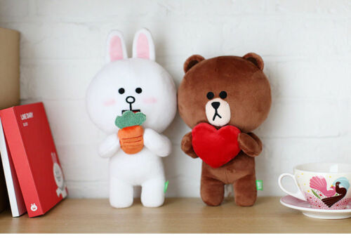 Hot Line Friends Brown Bear White Cony Hare Plush Soft Toy Stuffed Doll 10/'/' 1pc