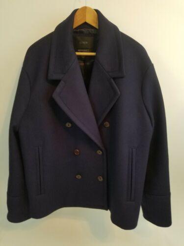 Manteau marine bleu de 14t taille Crew J laine Melton laine en PRBwPq