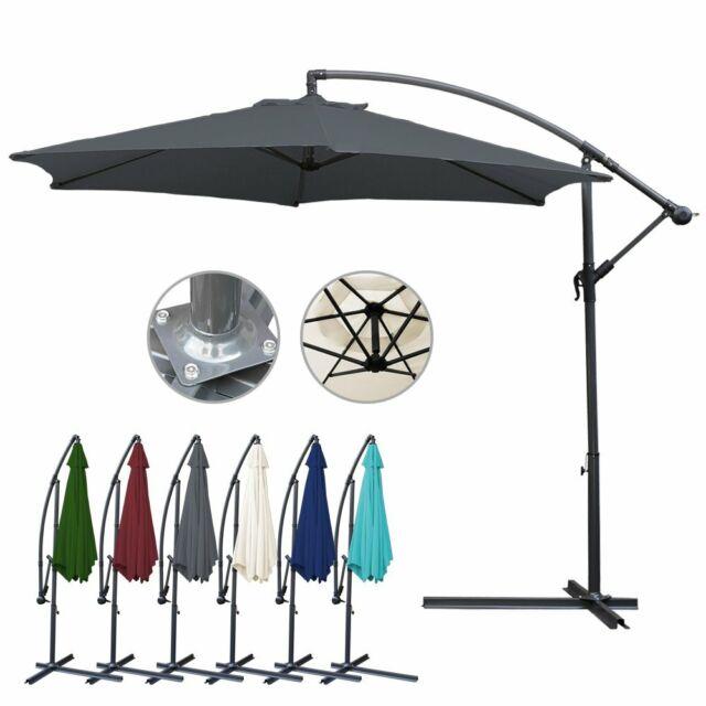 Alu Sonnenschirm UV-Schutz Ø300cm Ø350cm Ampelschirm Kurbelsonnenschirm Pavillon