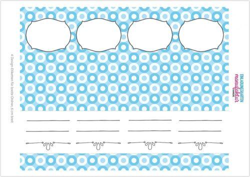 4 Ordner Etiketten Rücken-schilder selbstklebend Aktenrücken kurz breit blau 7