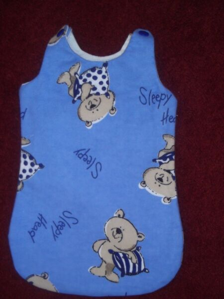 100% Vero Bambole/bear Blue Bear Con Motivo Sleep Sack. 12/14ns Bambola/bear Completa In Specifiche