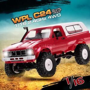 WPL-C24-1-16-2-4GHz-RC-Auto-4WD-mit-Scheinwerfer-Fernbedienung-Crawler-T0G2