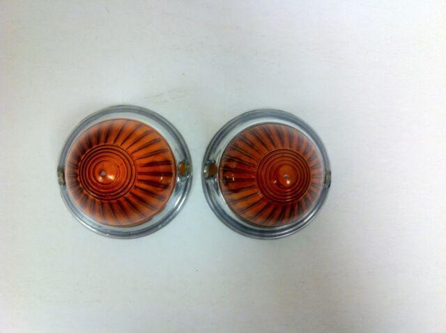 BMW Isetta 300 600 Amber Acrylic Turn Signal Lens Set Light Lens - NEW - (#144)