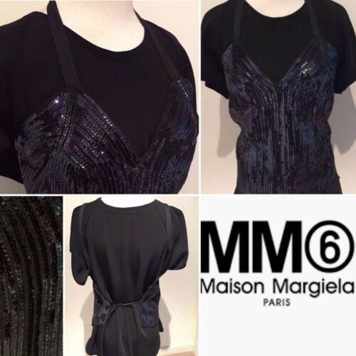 MAISON MARTIN MARGIELA Was$468Euro Black Sequin Kn