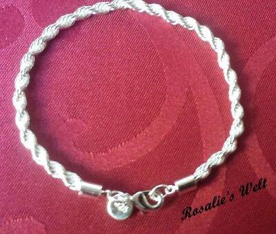 Schnelle Lieferung Kordel Armkette, Armband 925 Silber Plattiert Und Gestempelt 21cm Kunden Zuerst