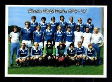 Hertha BSC Berlin Mannschaftskarte 1977-78 TOP