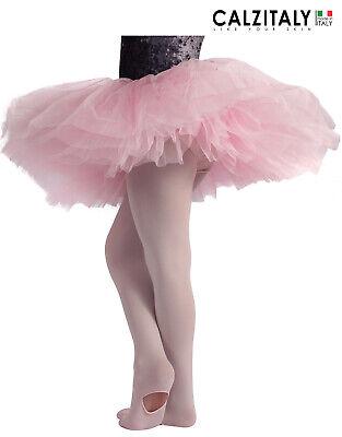 Calzeteria Italiana | Calze Ballet Nero L 80 Den M XL Rosa S XS CALZITALY Collant Convertibile Danza Donna