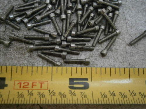 """Cap Screws #0//80 x 5//16/"""" Long Socket Head Stainless Steel Lot of 75 #5684"""