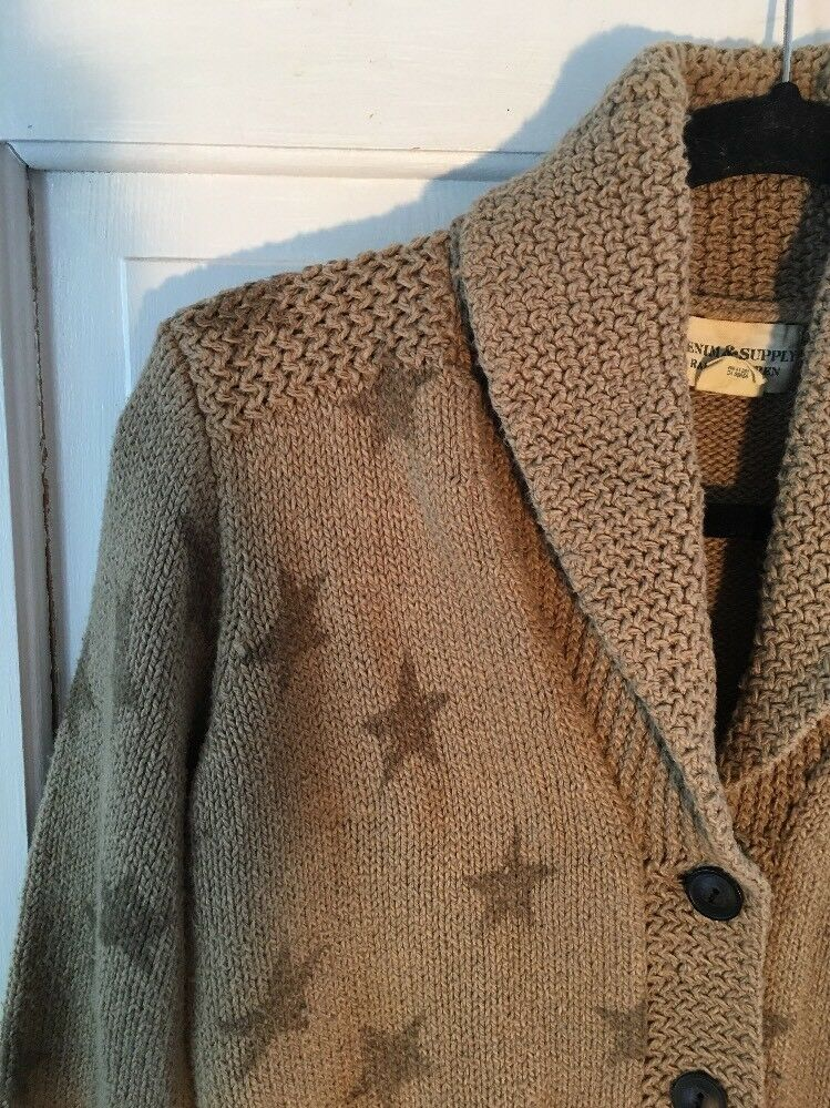 29. Denim & Supply Ralph Lauren Ladies Cardigan Star Sweater Size M  198