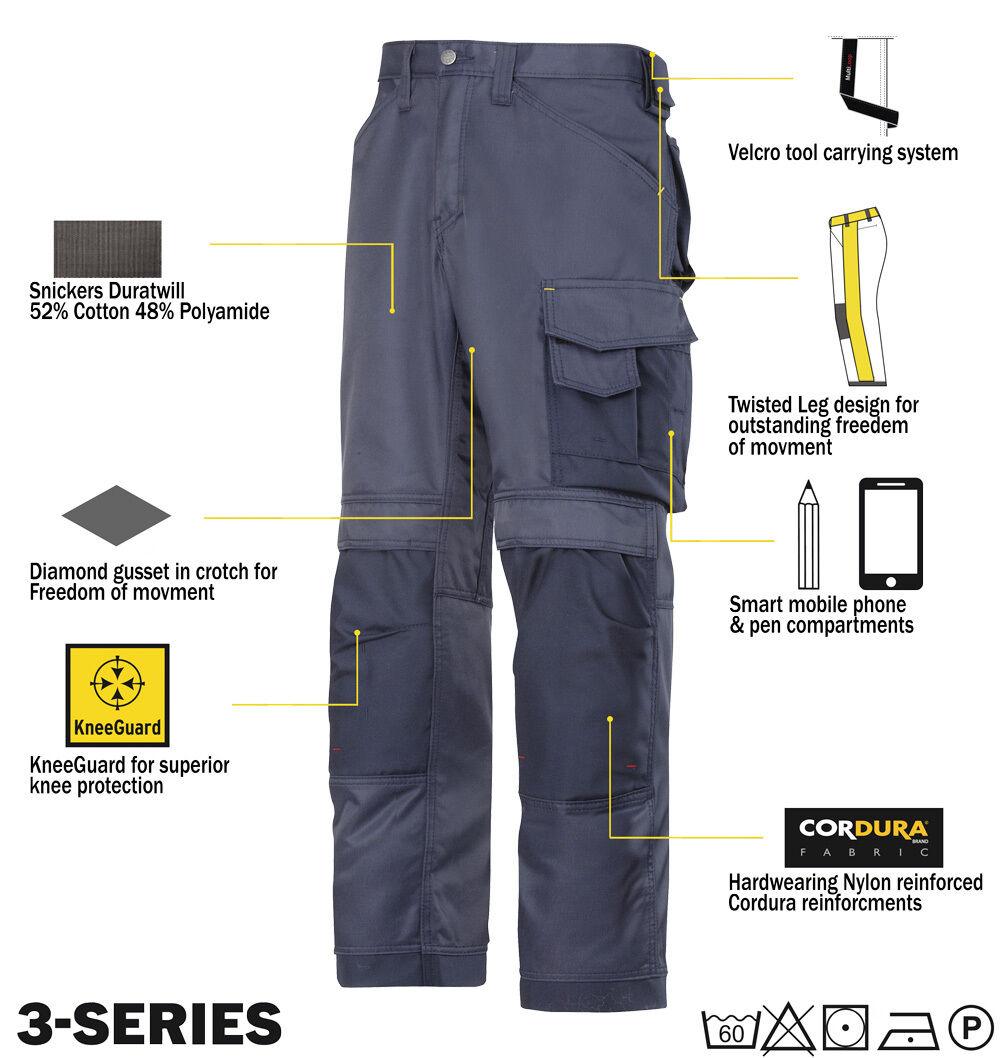Snickers pantaloni lavoro 3312 3-series Pantaloni da lavoro pantaloni Snickers DIRETTO blu scuro 5a2534