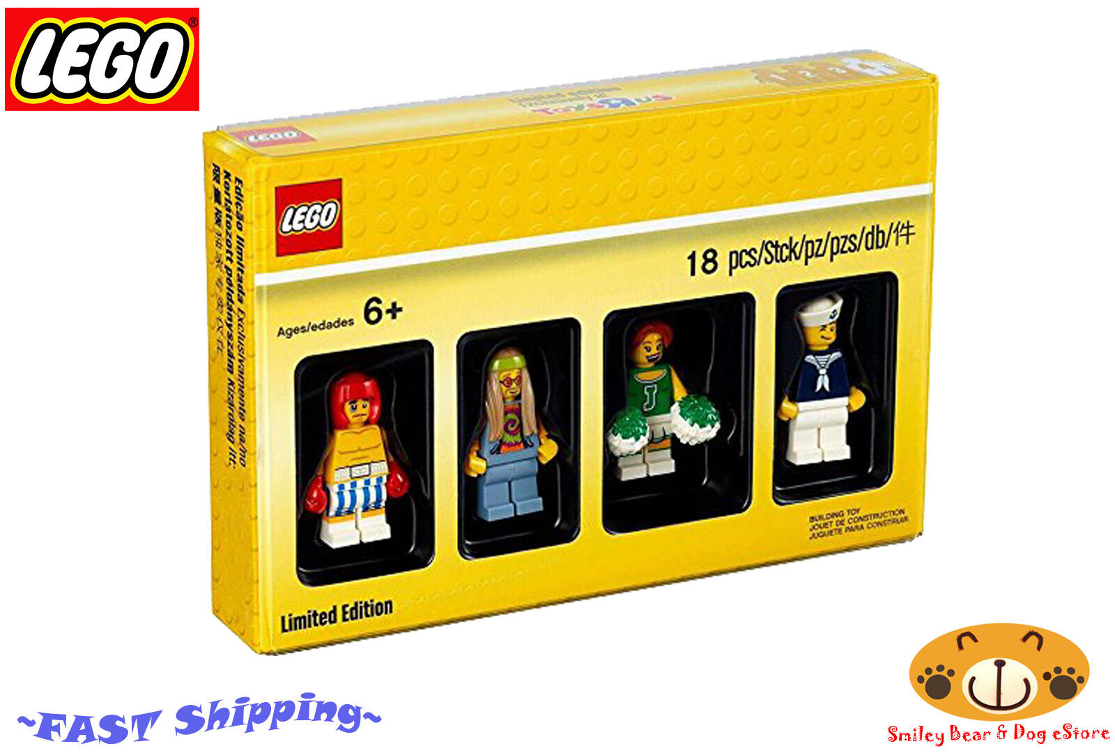 LEGO 5004941 MINIFIGURE SET LIMITED EDITION CHEERLEADER   BOXE   SAILOR   HIPPIE