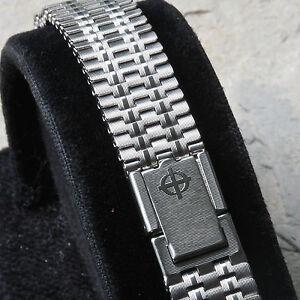 Ribbon-link-vintage-Zodiac-ladies-watch-NSA-band-Swiss-1960-70-12mm-13mm-or-14mm