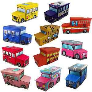 D'origine Storage Jouet Play Tabouret Détails Afficher Titre Voiture Enfants Pliable Livres Ottoman Coffre Chambre Le Box Sur Siège Toy JcT1lFK