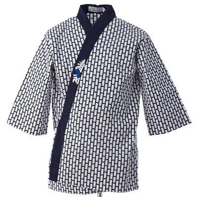 Happi Sushi Chef Coat Serving Short Kimono Sushi Chef Jacket Navy Hotel Uniform