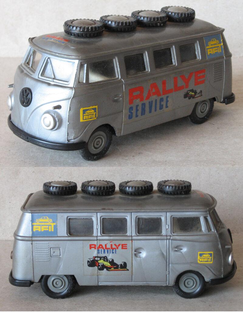 servicio considerado Juguete Antiguo Antiguo Antiguo Alemán marcado Microbús VW RALLEY servicio ca. 1960s  comprar nuevo barato