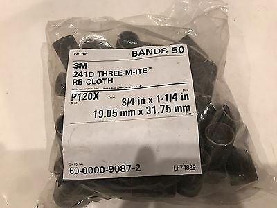 """3M 241D Cloth Sanding Belts 2/"""" x 48/"""" 100 Grit 26561"""