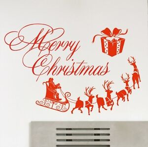 Christmas-Wall-sticker-Window-Shop-Wall-Quote-Sticker-Wall-Art-Decor-kit2