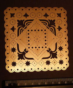 Erica//Stencil//Symbol//Corner//Triangular//SMALL//emboss//Stitch//Embroider//4.050.363