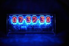 Hand Made IN-12 6 Tube Nixie Desk Clock Assembled Nixie Clock 240V 24HR  Mode
