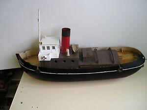 """Expressif Remorqueur """"vintage R/c Model Boat Plan + Modèles + Instructions-+instructions Fr-fr Afficher Le Titre D'origine"""