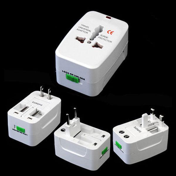 Universal World Travel Wall Charger Power Adapter AU/UK/US/EU Plug AC 110-220V