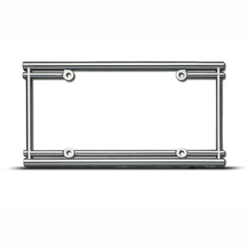 PIPES TUBES HOT CAR COOL METAL LICENSE PLATE FRAME