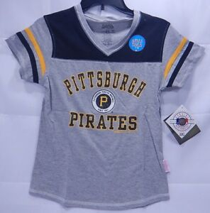 1a0b8ec0 Image is loading Stitches-Pittsburgh-Pirates-V-Neck-Tee-Shirt-Girls-