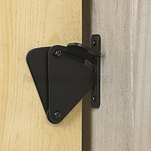 Black Lock For Sliding Barn Door Wood Door Latch Gate EASY DIY Hardware Set