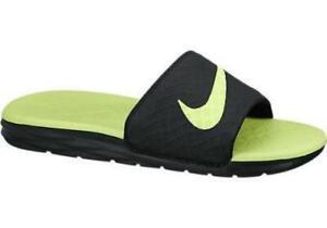 the latest ded7a 113bf Nike Benassi Solarsoft Slide 2 705474-070 Black Volt Mens US Size 9 UK 8