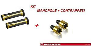 BARRACUDA KIT MANOPOLE RACING SUPERGRIP + CONTRAPPESI ORO per YAMAHA FZ6 / FZ6 S