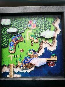 Détails Sur Chronno Trigger Carte Du Monde 3d Diorama Shadow Box Snes Handmade Pixel Art Afficher Le Titre Dorigine