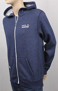 Children Polo Sport Ralph Lauren Blue Full Zip Athletic Hoodie NWT