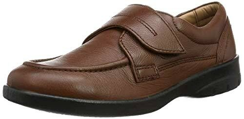 Hommes Padders Solar Tan Taille UK 6.5 Ultra Extra Large G H en cuir chaussures confort