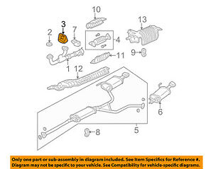 details about acura honda oem 03 06 mdx 3 5l v6 exhaust cover 18208s3va00 2003 acura mdx engine diagram wiring