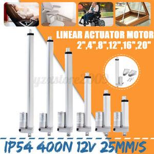 Linear-Aktuator-400N-25mm-s-12V-Elektromotor-Auto-Lift-Controller-Halterungen-UK