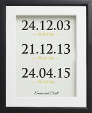 1st Wedding Anniversary Paper Gift. One Year Personalised A4 Print Present