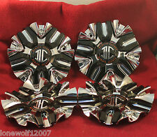 2 Crave Wheels Chrome and Black Custom Wheel Center Cap # C520102 CAP ZSP01 (4)