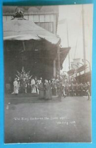 SENIOR & Co Postcard 9th JULY 1908 THE KING DECLARES THE DOCK OPEN BRISTOL