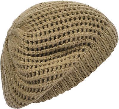 Aprileo Women/'s Slouchy Beret Hat Double Layer Oversized Thin Cap