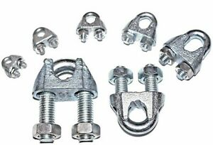 Details about Wire Rope Clamp Grip 3mm 5mm 6mm 8mm 10mm 12mm 16mm Steel U -  Bolt Clamps Cable