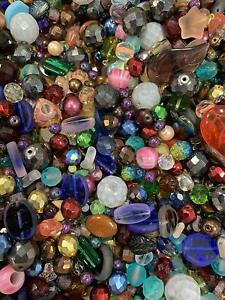 Czech-Glass-Beads-Mix-4-18mm-Assorted-Colors-and-Shapes-Bulk-Lot-ModeBeads