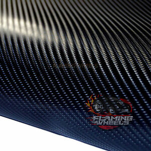 1-5m-x-30cm-4D-Carbon-fibre-vinyl-wrap-BLACK-sticker-decal-car-van-air-drain