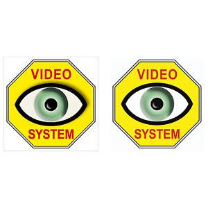 Copieux Vidéo Oeil Système 5 Cm Jaune Autocollant Sticker Set Pour Intérieur Fenêtre Verre-afficher Le Titre D'origine Des Friandises AiméEs De Tous