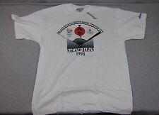 NEW Men's Vintage Mizuno 1998 Olympic Games Nagano Japan  T-Shirt NWT USA