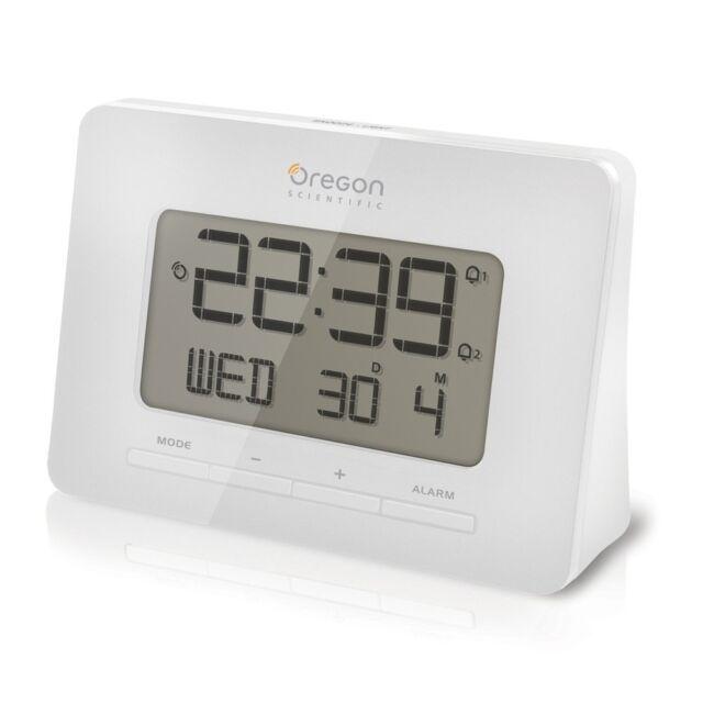 Réveil RM938 OREGON SCIENTIFIC RADIO CONTROLLED couleur blanche