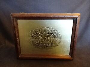 Flor De Spencer Wood Wooden Superiores Cigar Box